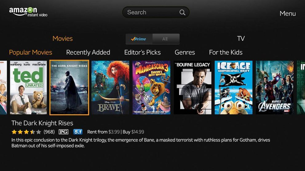 Amazon Prime Video llega a España para competir con Netflix y HBO