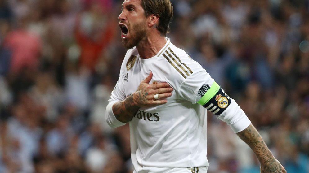 Foto: Sergio Ramos celebra un gol del Real Madrid en Champions. (Reuters)