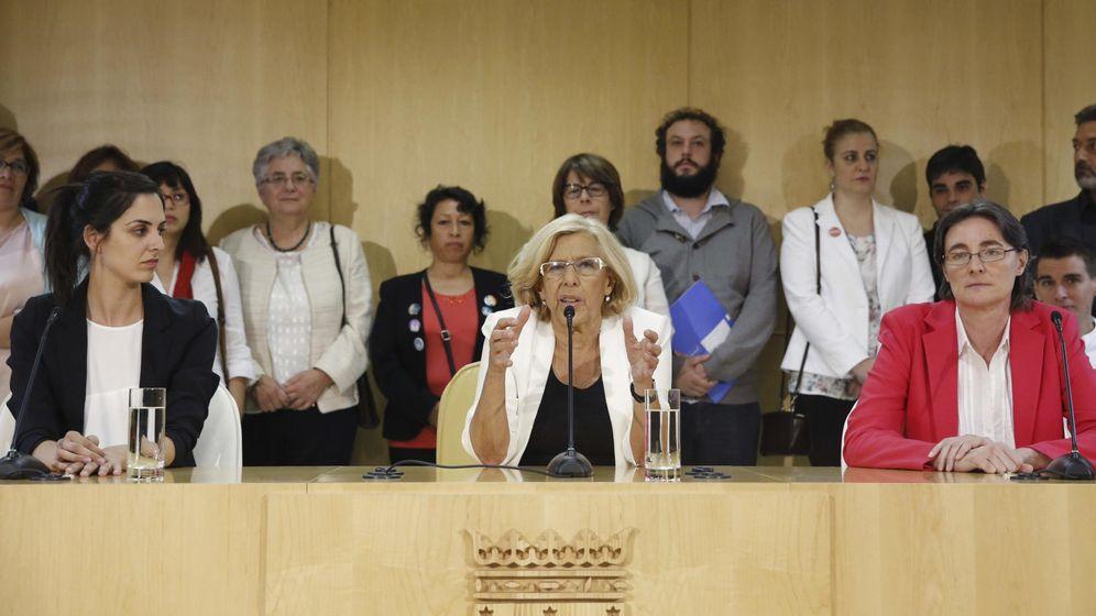 Foto: Rita Maestre, portavoz de Ahora Madrid, a la izquierda de la imagen (EFE)