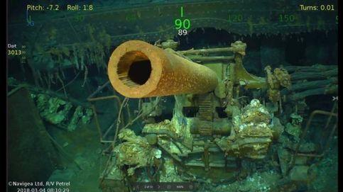 Las fotos del USS Lexington, hallado bajo el Pacífico tras hundirse en la II Guerra Mundial