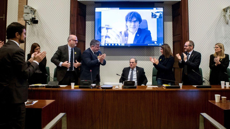 Reunión tras la resolución de la JEC. (EFE)