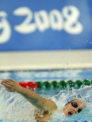 Belmonte se queda fuera de la final de 400 estilos y Phelps bate un récord olímpico