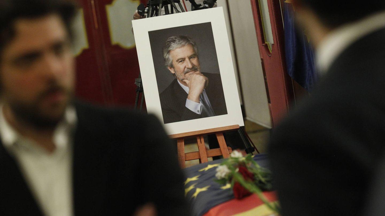 Capilla ardiente de Manuel Marín en el Congreso de los Diputados.