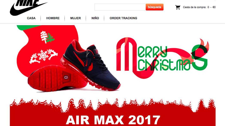 Captura de la web Airmaxes.top.