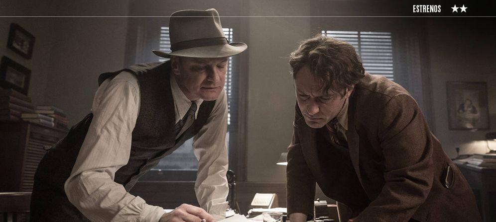 Foto: Colin Firth y Jude Law en un fotograma de 'El editor de libros'