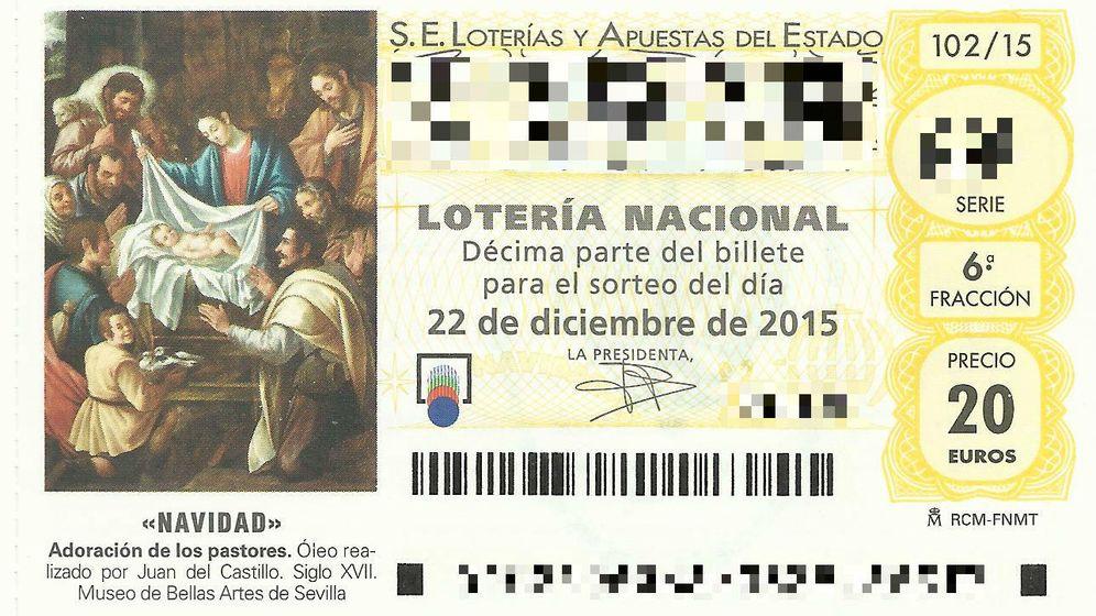 Foto: Así son los décimos de Lotería de Navidad de 2015