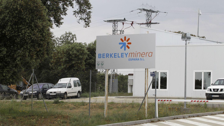 La mina de uranio a cielo abierto que la empresa Berkeley construye en Retortillo. (EFE)
