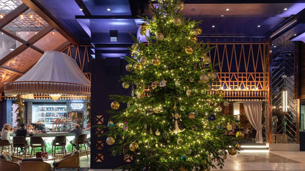 Foto: El árbol de Navidad del Hotel Bahía de Estepona está valorado en 15 millones de dólares (Foto: Kempinski Hotel Bahía)