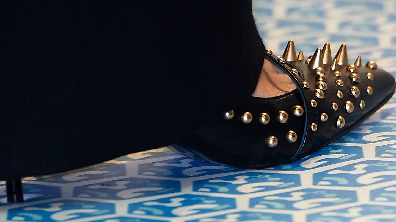 Zapatos de Letizia en Fitur. (Limited Pictures)