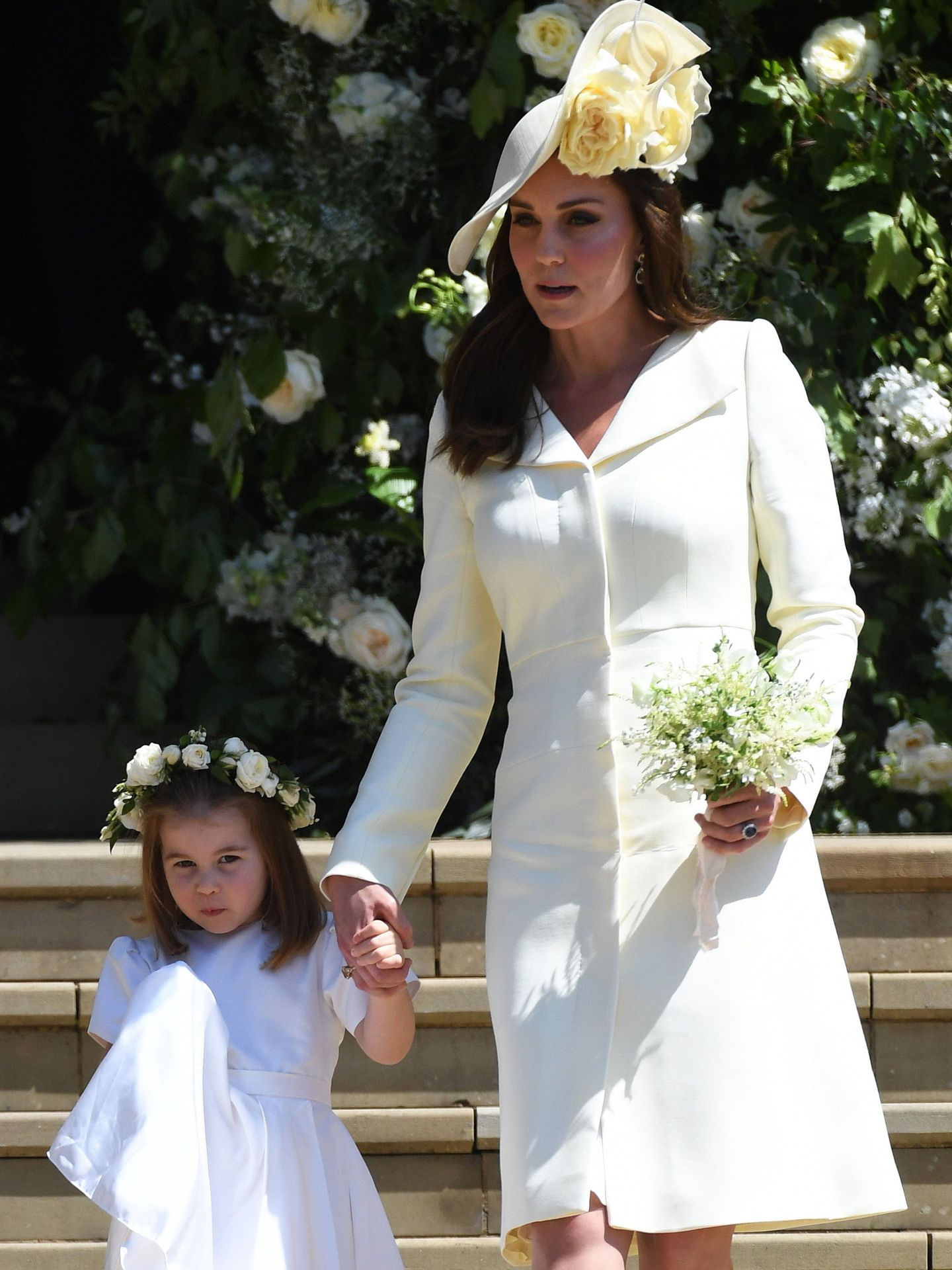 Kate, con Charlotte. (Reuters)