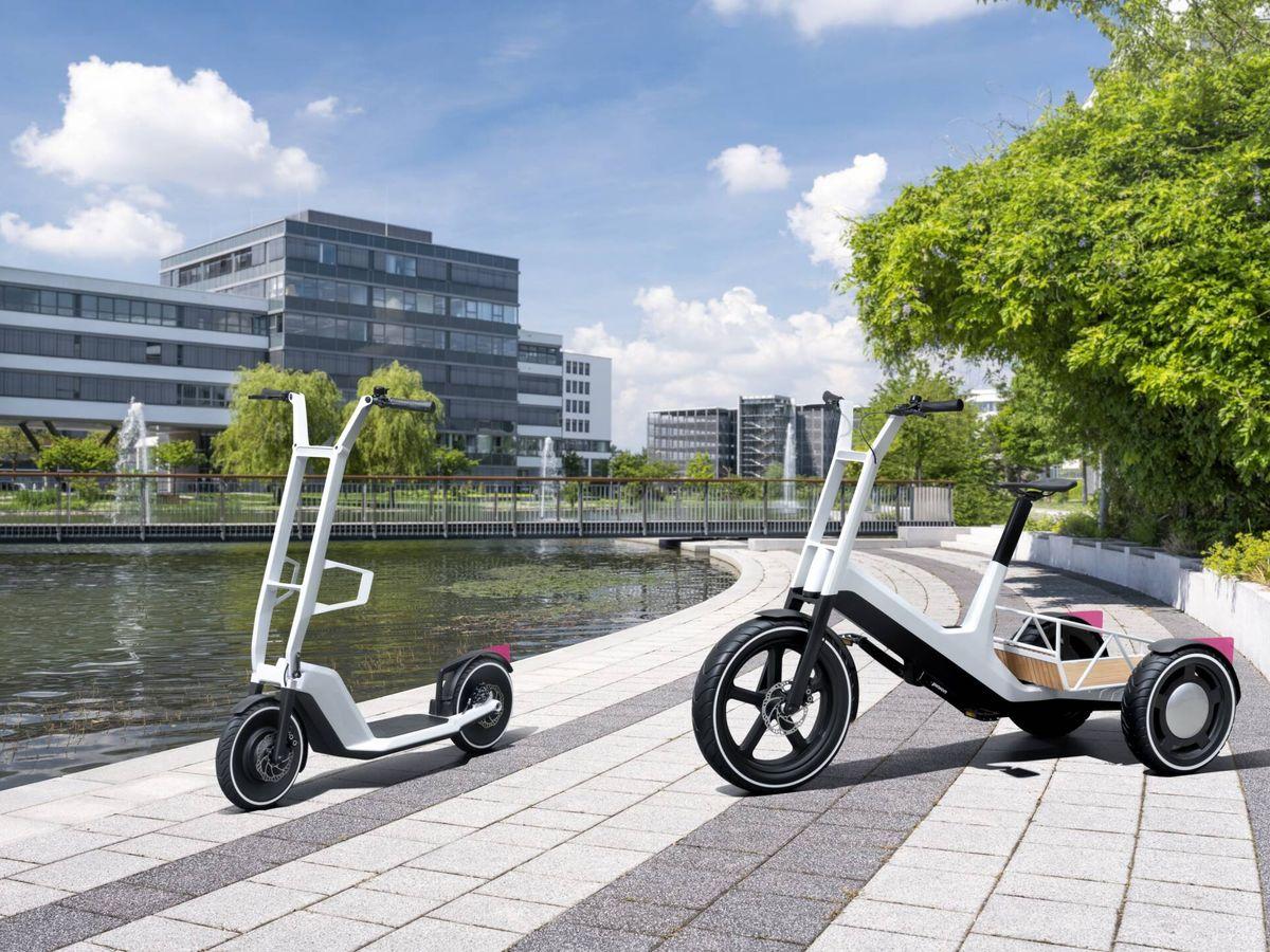 Foto: Clever Commute (izquierda) y Dynamic Cargo (derecha) son las dos nuevas propuestas urbanas de BMW. La marca afirma que no las fabricará, pero que ya hay varias empresas interesadas en hacerlo bajo licencia.