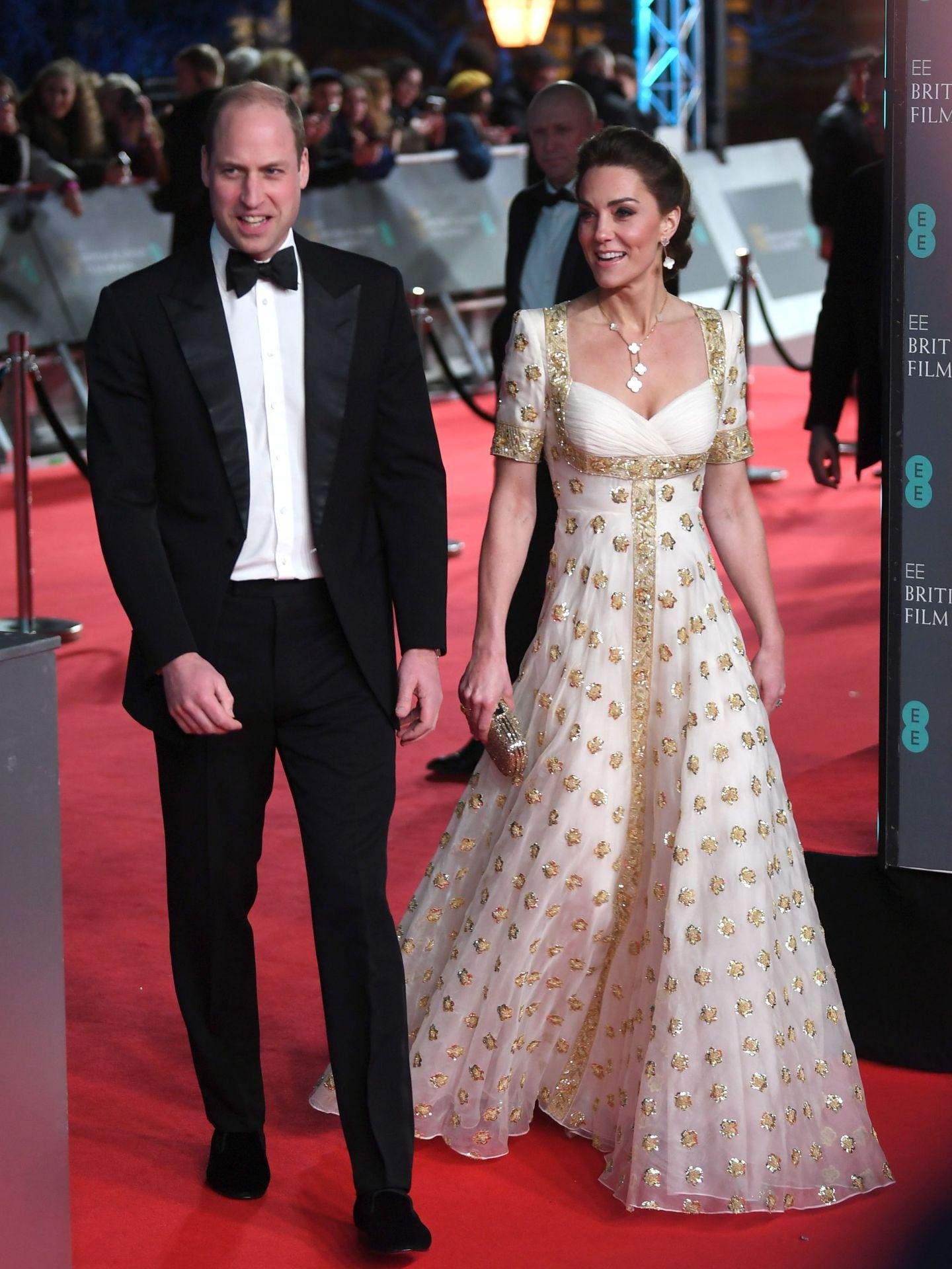 Kate Middleton, en la última edición de los Bafta, con vestido de Alexander McQueen. (EFE)
