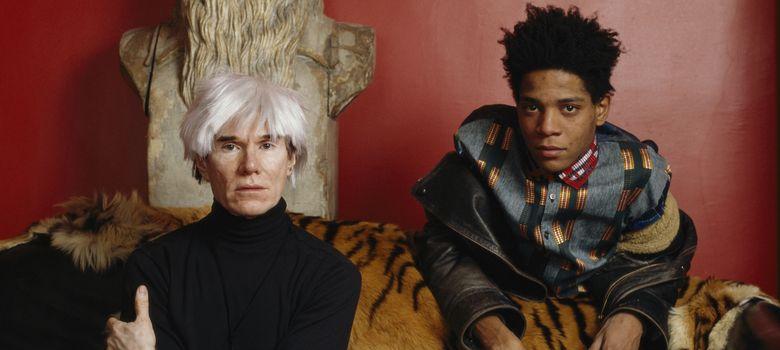 Foto: Andy Warhol y Jean-Michel Basquiat, retratados en 1985.