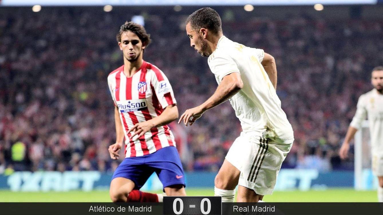 Foto: Hazard y Joao Félix durante el Atlético de Madrid-Real Madrid. (EFE)
