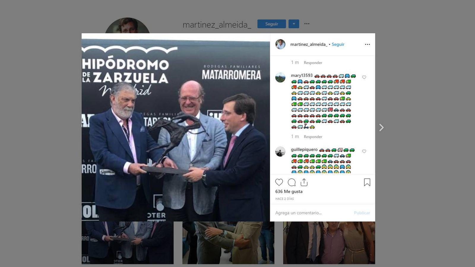 Foto: Instagram de José Luis Martínez-Almeida.