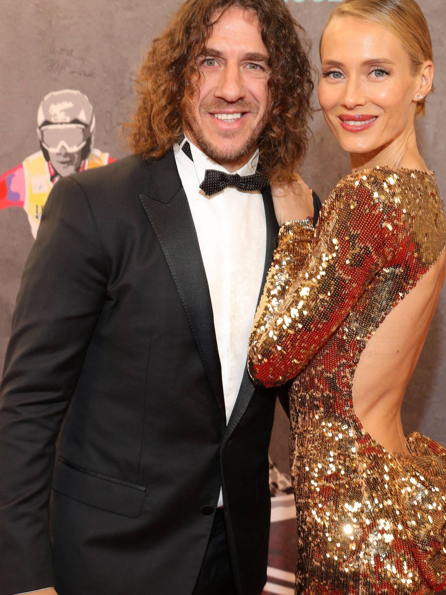 Vanesa Lorenzo y Carles Puyol, en los Premios Laureus. (Getty)