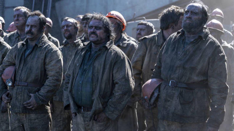 Los mineros de 'Chernobyl'. (HBO)