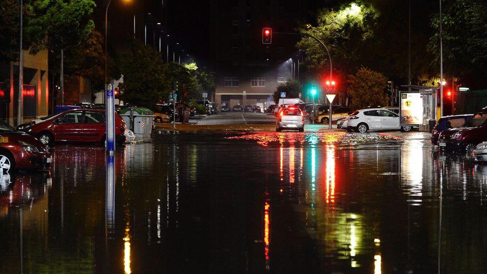 Inundaciones en Valladolid por una intensa tormenta que anega la ciudad