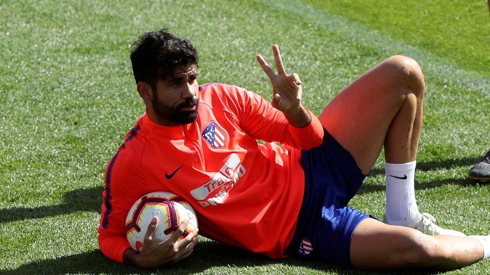 Foto: Diego Costa, en un entrenamiento con el Atlético de Madrid. (EFE)