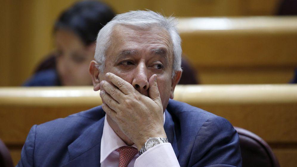 Foto: Javier Arenas en un pleno del Senado. (EFE)