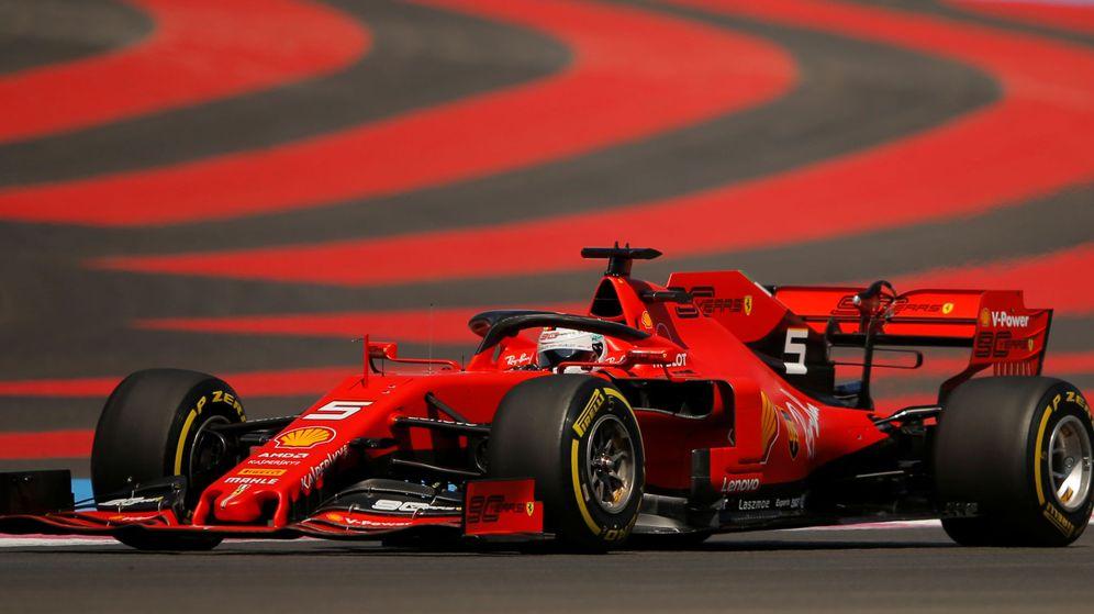 Foto: Sebastian Vettel en acción durante la clasificación del GP de Francia. (Reuters)