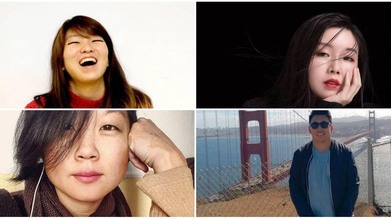 Foto: De arriba abajo: Quan Zhou, Liuyun Xiang, Susana Ye y Alejandro Lai.
