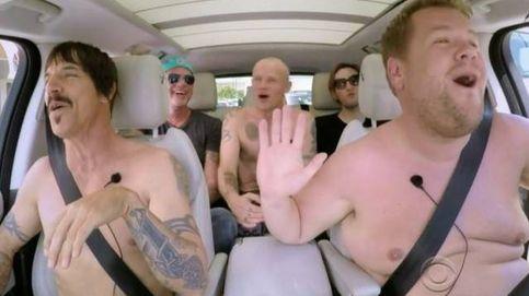 James Corden desnuda a Red Hot Chili Peppers en su coche
