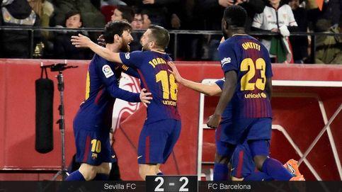 Messi y Suárez evitan con dos goles al filo del 90' la primera derrota del Barça