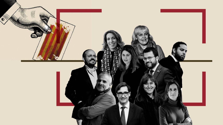 Foto: Los nueve candidatos a la presidencia de la Generalitat.