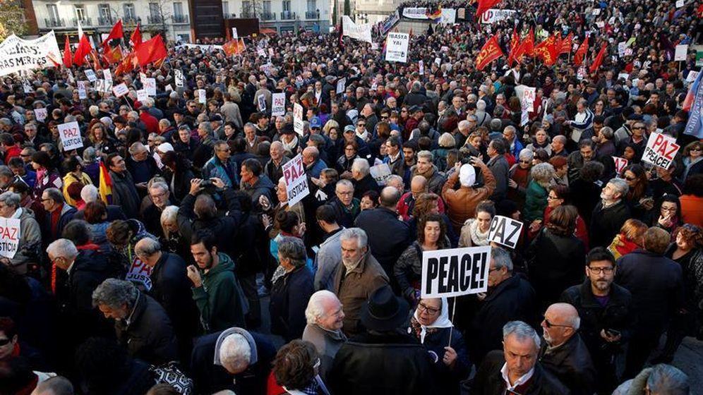 Foto: Imagen de la manifestación contra los bombardeos en Siria en noviembre. (Efe)