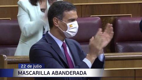 Mascarillas y corbatas: las nuevas pancartas de la política española