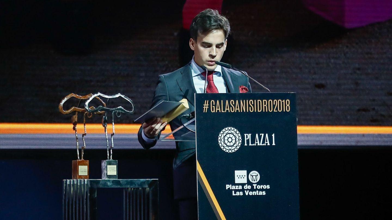Gonzalo Caballero, dando su discurso en la presentación de carteles de San Isidro. (CP)