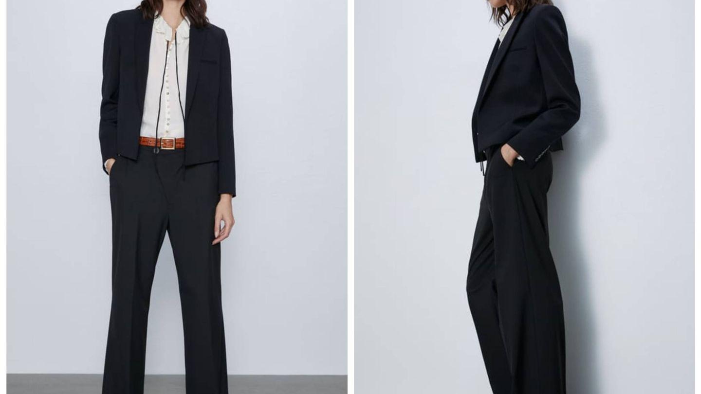 Nuevo traje negro de Zara. (Cortesía)