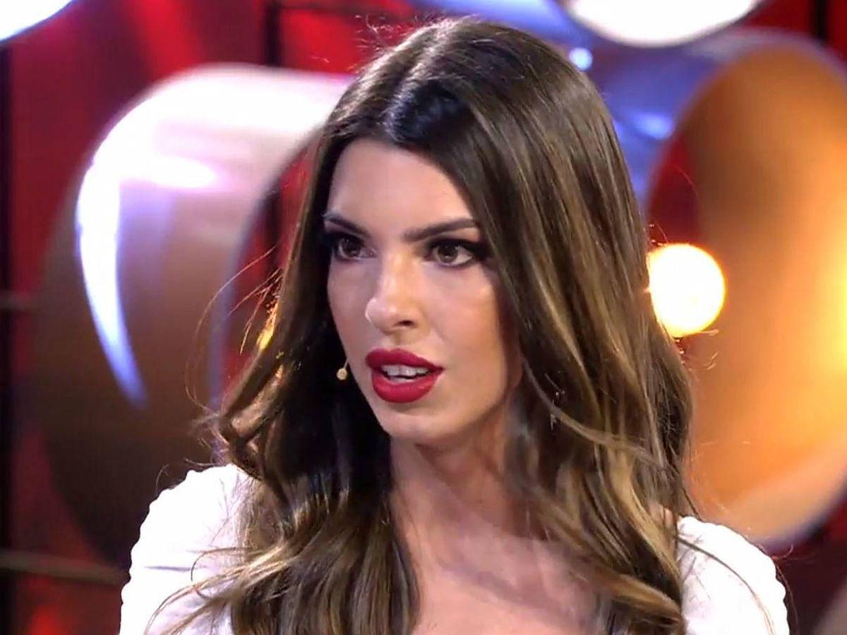 Foto: Andrea en el debate de 'La isla de las tentaciones'. (Mediaset España)