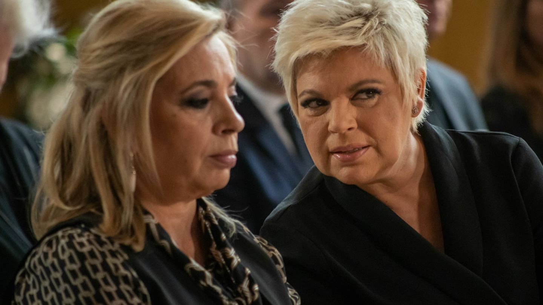 Carmen Borrego y Terelu, en 'El cielo puede esperar'. (Movistar)