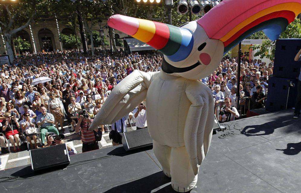 Foto: Currol mascota de la Exposición Universal de Sevilla de 1992. (EFE)