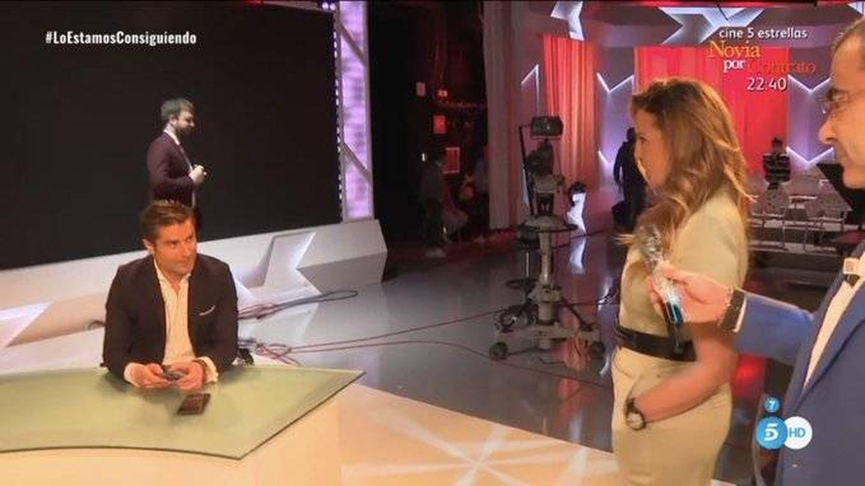 Alfonso Merlos y Marta López, en 'Sálvame'. (Telecinco)