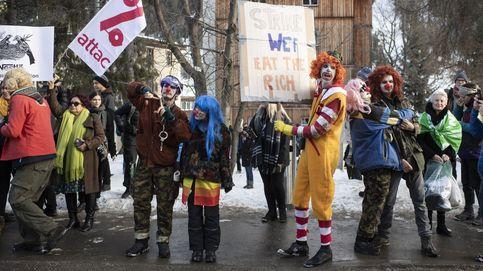 Protestas en Davos