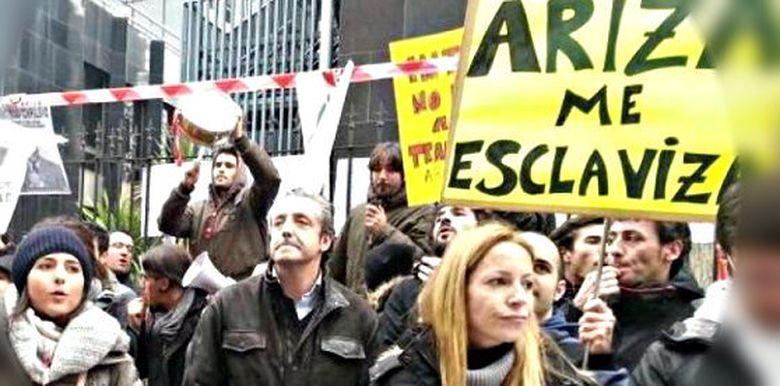 Foto: Protesta de los trabajadores del Grupo Intereconomía (Twitter)