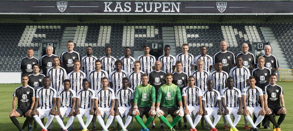 Foto: Plantilla del KAS Eupen de la temporada 2013/2014 (FOTOS: http://as-eupen.be)