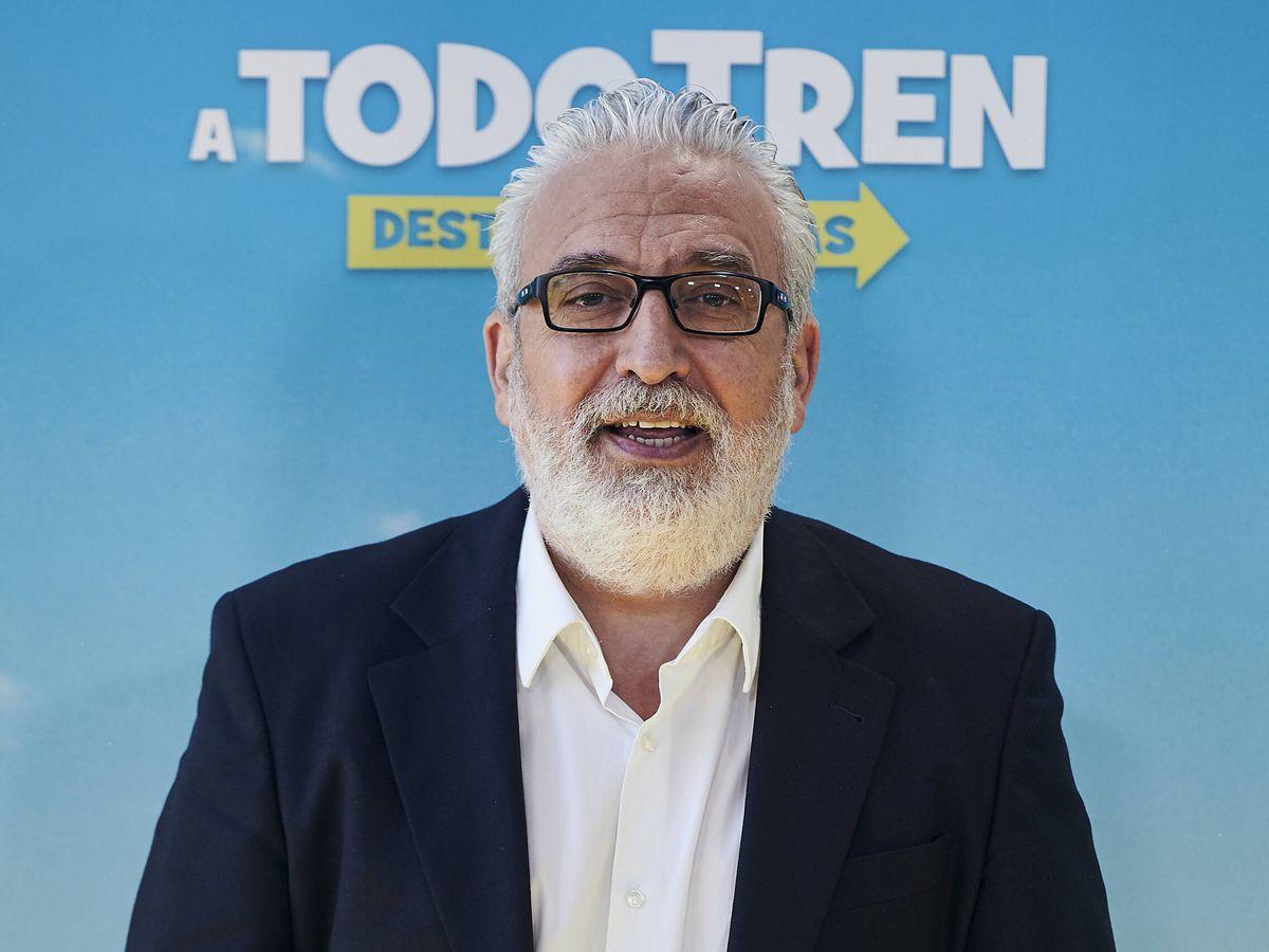 Foto: Leo Harlem, en la presentación de '¡A todo tren! Destino Asturias'. (Getty)