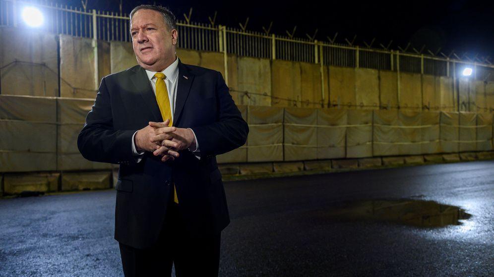 Foto: Imagen de archivo de Mike Pompeo en Bagdad. (Reuters)