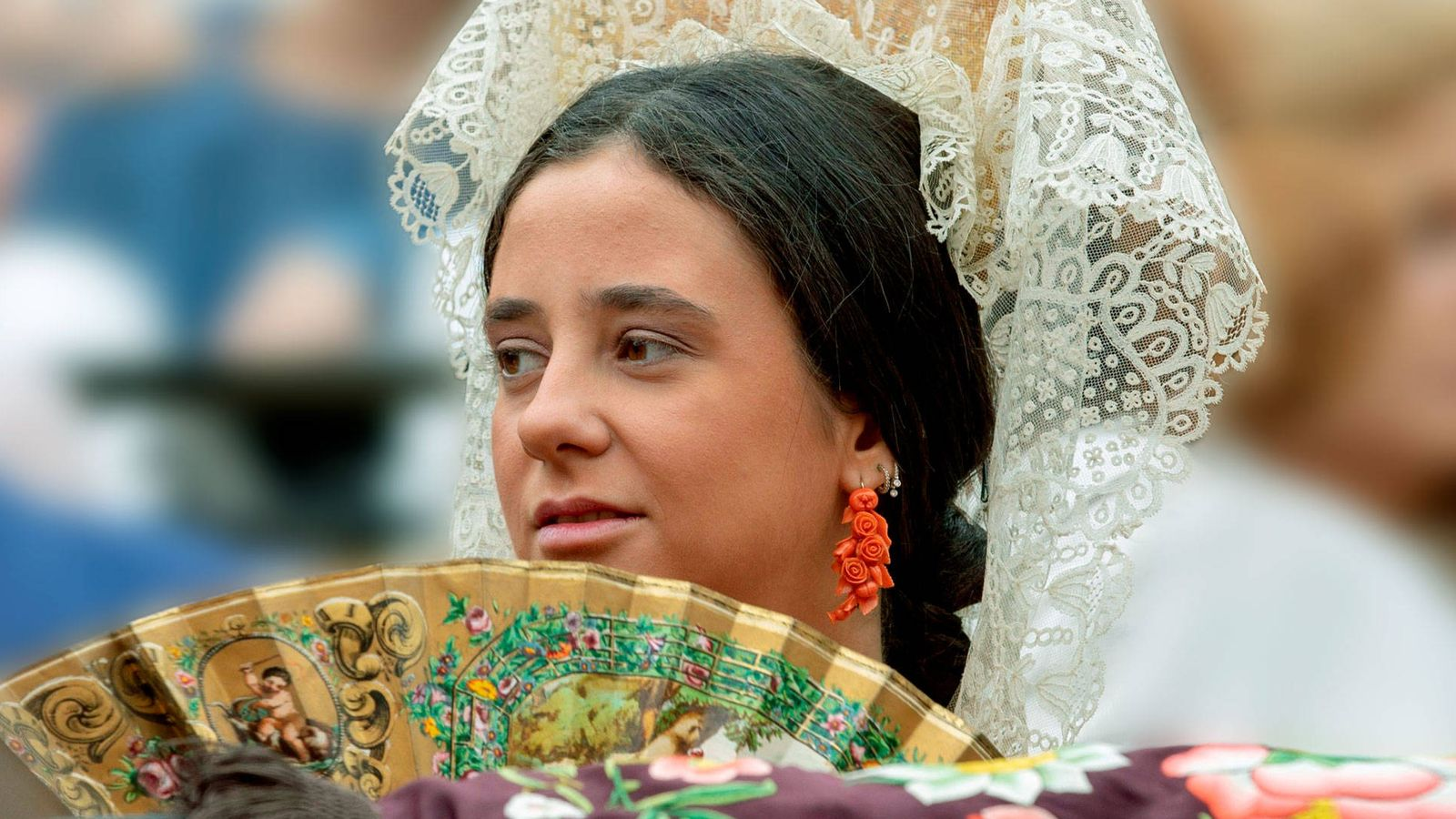 Foto: Victoria Federica, durante uno de los actos en Sevilla. (EFE)
