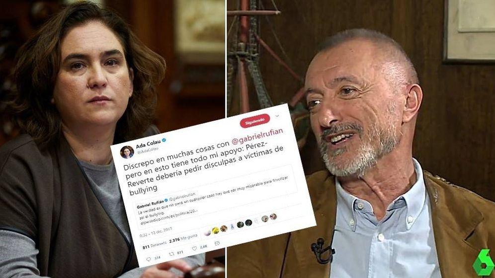 Foto: Ada Colau y Pérez-Reverte han discutido por sus declaraciones sobre el bullying en La Sexta Noche.