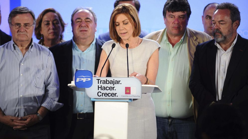Foto:  La presidenta de Castilla-La Mancha y candidata a la reelección, María Dolores de Cospedal. (Efe)