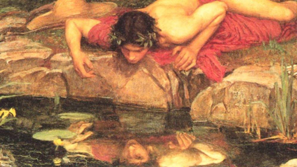 Foto: Pintura de John William Waterhouse sobre el mito de Narciso.