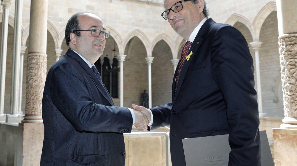 Foto: El presidente Quim Torra se reÚne con Miquel Iceta