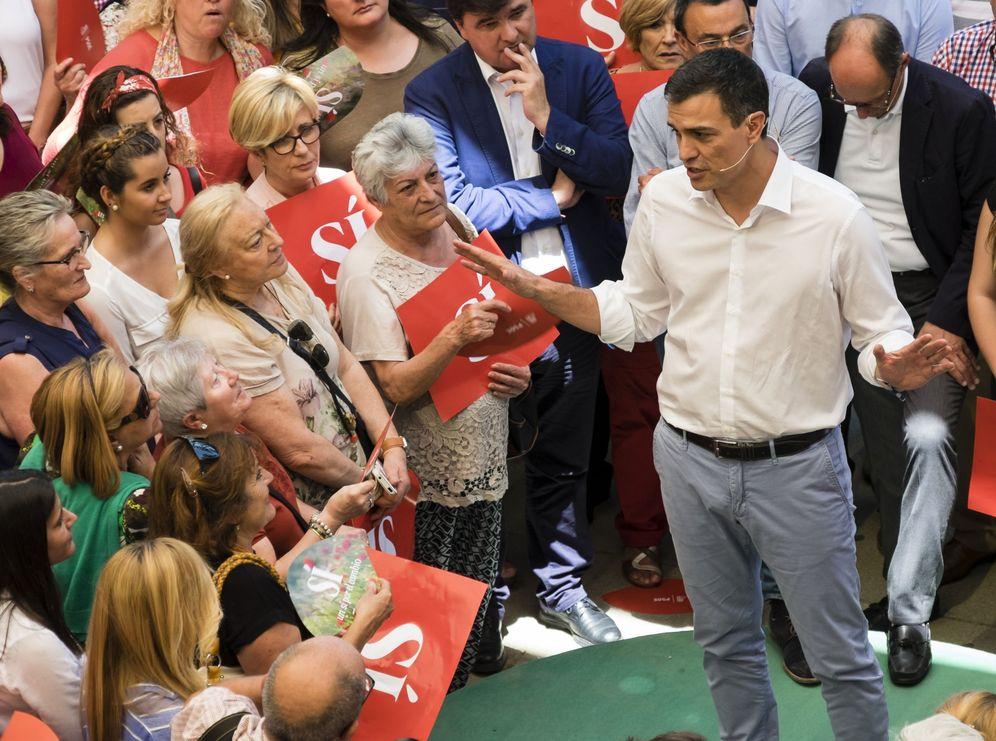 Foto: Pedro Sánchez, el pasado 6 de junio, durante su mitin en Huelva. (EFE)