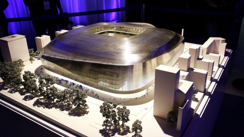 Foto: Maqueta del nuevo estadio Santiago Bernabéu. (EFE)