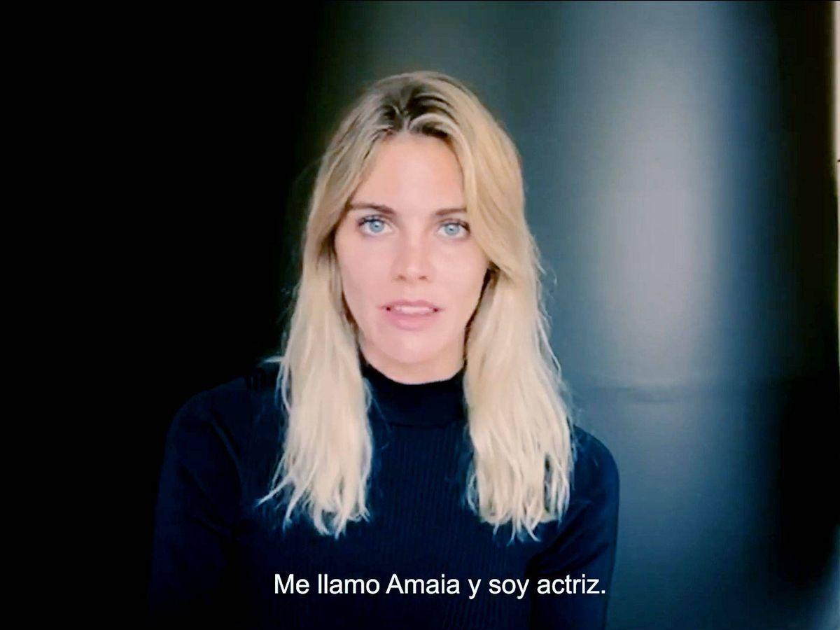 Foto: Amaia Salamanca, en el vídeo de la Fundación Alalá.